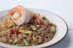τηγανισμένο ρύζι γαρίδων στοκ εικόνες