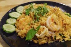 Τηγανισμένο ρύζι με το τσίλι, Tom Yum Στοκ Εικόνες