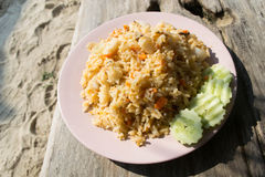 Τηγανισμένο ρύζι, ταϊλανδική κουζίνα Στοκ Εικόνες