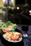Τηγανισμένο ρύζι Seafod Στοκ Εικόνες