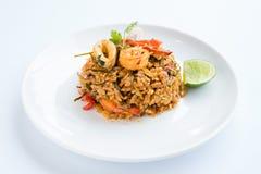 Τηγανισμένο ρύζι Tom Yum Στοκ Εικόνες