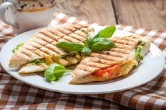 Τηγανισμένο σάντουιτς φρυγανιάς Στοκ Εικόνα