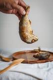 τηγανισμένο σκουμπρί Στοκ Εικόνες