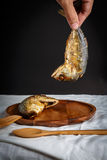 τηγανισμένο σκουμπρί Στοκ Εικόνα