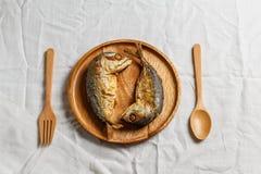 τηγανισμένο σκουμπρί Στοκ εικόνες με δικαίωμα ελεύθερης χρήσης