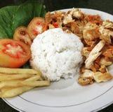 Τηγανισμένο τσίλι ρύζι κοτόπουλου Στοκ φωτογραφίες με δικαίωμα ελεύθερης χρήσης