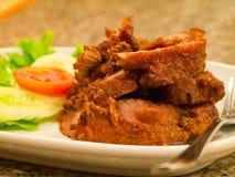 Τηγανισμένο χοιρινό κρέας Στοκ εικόνα με δικαίωμα ελεύθερης χρήσης