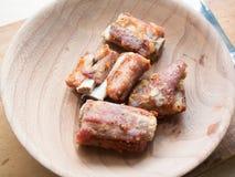 Τηγανισμένο χοιρινό κρέας στοκ εικόνα