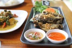 τηγανισμένο ψάρια πιάτο Στοκ Εικόνες