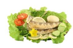 τηγανισμένο ψάρια πιάτο Στοκ Φωτογραφία