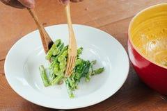 Τηγανισμένο Aparagus Στοκ εικόνες με δικαίωμα ελεύθερης χρήσης