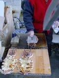 Τηγανισμένο calamari υπό πίεση Στοκ Εικόνα