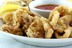 Τηγανισμένο Calamari Στοκ Εικόνα