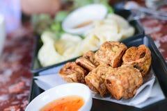 Τηγανισμένο Jock κοτόπουλο για ένα πρόχειρο φαγητό στοκ φωτογραφία