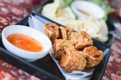 Τηγανισμένο Jock κοτόπουλο για ένα πρόχειρο φαγητό στοκ εικόνα