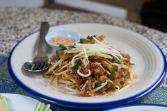 τηγανισμένο noodle Ταϊλανδός Στοκ Φωτογραφίες