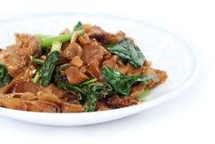 τηγανισμένο noodle χοιρινό κρέα&sigma Στοκ Εικόνες