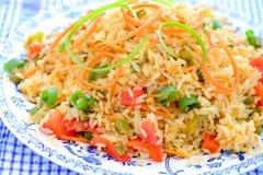 Τηγανισμένο Schezwan ρύζι Στοκ εικόνα με δικαίωμα ελεύθερης χρήσης