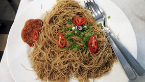 Τηγανισμένο vermicelli ρυζιού Στοκ φωτογραφία με δικαίωμα ελεύθερης χρήσης