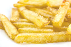 τηγανιτές πατάτες κινηματογραφήσεων σε πρώτο πλάνο Στοκ Εικόνα