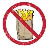 Τηγανιτές πατάτες που απαγορεύονται Στοκ εικόνες με δικαίωμα ελεύθερης χρήσης