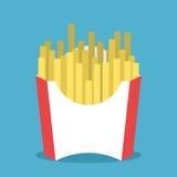 Τηγανιτές πατάτες στη συσκευασία διανυσματική απεικόνιση