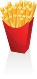τηγανιτές πατάτες διανυσματική απεικόνιση