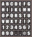 τηλέτυπο χαρτονιών αλφάβητ διανυσματική απεικόνιση