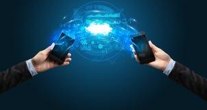 Τηλέφωνα που μέσω του σύννεφου ελεύθερη απεικόνιση δικαιώματος