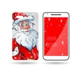 Τηλέφωνο Άγιος Βασίλης σχεδίου κάλυψης Στοκ εικόνα με δικαίωμα ελεύθερης χρήσης