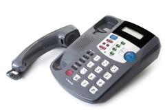 Τηλέφωνο γραφείων γραφείων με το κουλουριασμένο τηλεφωνικό σκοινί Στοκ εικόνες με δικαίωμα ελεύθερης χρήσης