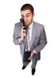 τηλέφωνο επιχειρηματιών στοκ εικόνες με δικαίωμα ελεύθερης χρήσης