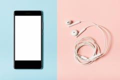 Τηλέφωνο και ακουστικά Στοκ φωτογραφία με δικαίωμα ελεύθερης χρήσης