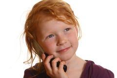 τηλέφωνο κοριτσιών κυττάρ&o Στοκ εικόνα με δικαίωμα ελεύθερης χρήσης