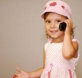 τηλέφωνο κοριτσιών Στοκ Εικόνες