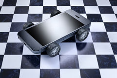 Τηλέφωνο κυττάρων αυτοκινήτων κινητό Στοκ Φωτογραφία
