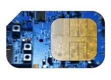 τηλέφωνο κυττάρων καρτών sim Στοκ Φωτογραφία