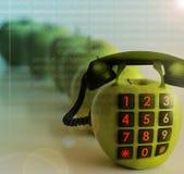 τηλέφωνο μήλων Στοκ φωτογραφία με δικαίωμα ελεύθερης χρήσης