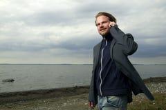 τηλέφωνο παραλιών Στοκ Εικόνες