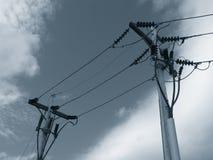 τηλέφωνο πόλων γραμμών Στοκ Φωτογραφίες