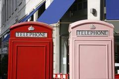 τηλέφωνο του Λονδίνου θ&a Στοκ Φωτογραφία