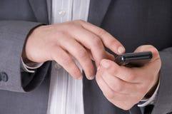 τηλέφωνο χεριών κυττάρων ε& Στοκ εικόνες με δικαίωμα ελεύθερης χρήσης