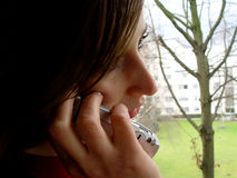 τηλέφωνο χεριών Στοκ εικόνες με δικαίωμα ελεύθερης χρήσης