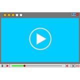 Τηλεοπτική διαπροσωπεία συσκευών αναπαραγωγής πολυμέσων κινηματογράφων. ελεύθερη απεικόνιση δικαιώματος