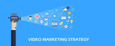 Τηλεοπτική εμπορική στρατηγική, τηλεοπτική διαφήμιση Διαδικτύου, ψηφιακή τηλεοπτική ικανοποιημένη έννοια προώθησης Επίπεδο διανυσ ελεύθερη απεικόνιση δικαιώματος