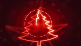 Τηλεοπτικός βρόχος υποβάθρου εποχής Χριστουγέννων του //1080p Lucentia ελεύθερη απεικόνιση δικαιώματος