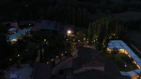 Τηλεοπτικός πυροβολισμός Aero, ιταλικό εστιατόριο χωρών απόθεμα βίντεο