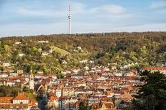 Τηλεοπτικός πύργος της Στουτγάρδης karlshoehe Στοκ Εικόνα