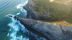 _ Τηλεοπτικός συλλάβετε τη πλευρά Vicentina, Sagres ακτών κηφήνων Πορτογαλία φιλμ μικρού μήκους