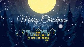 Τηλεοπτικός χαιρετισμός με τη Χαρούμενα Χριστούγεννα και καλή χρονιά! απόθεμα βίντεο